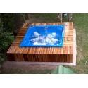 Jacuzzi diseño spa con deck de 200x200